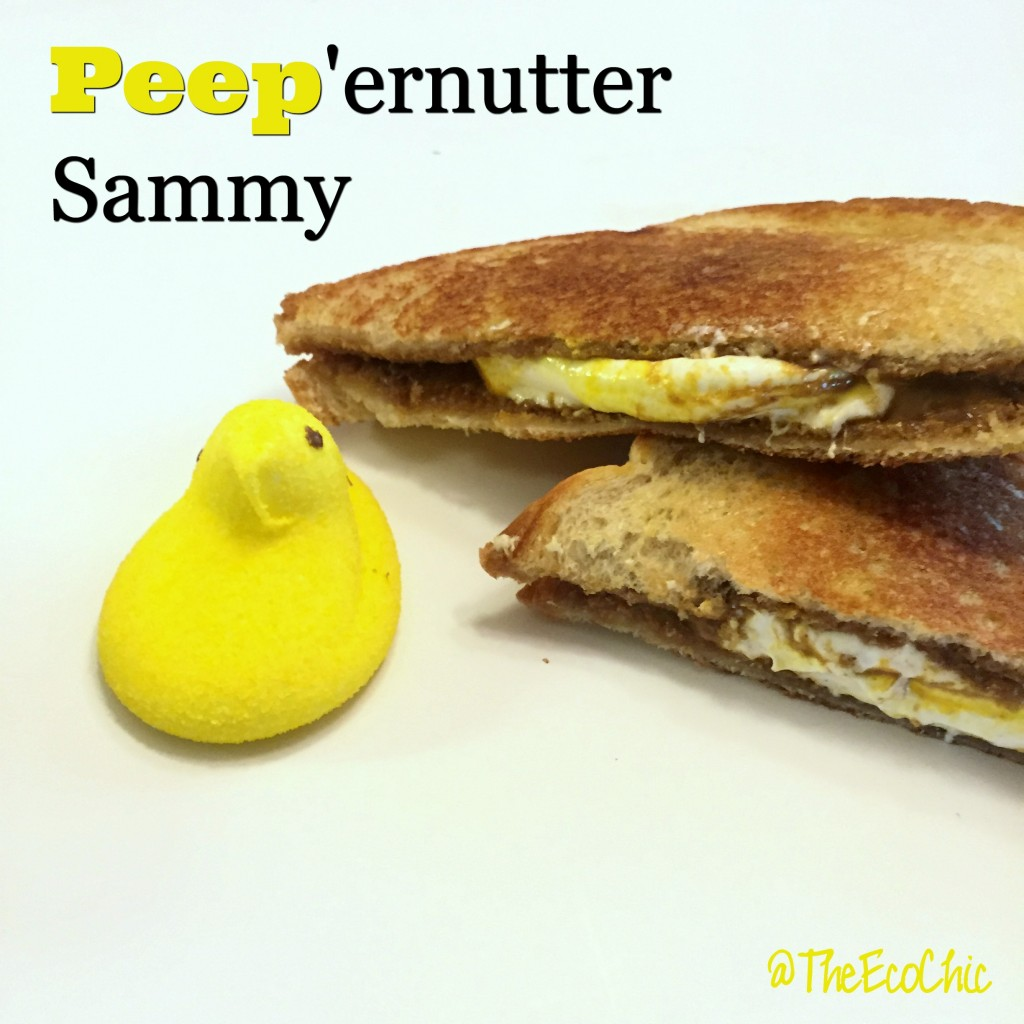 Grilled Peep'ernutter Sammy - Fluffernutter Easter Style