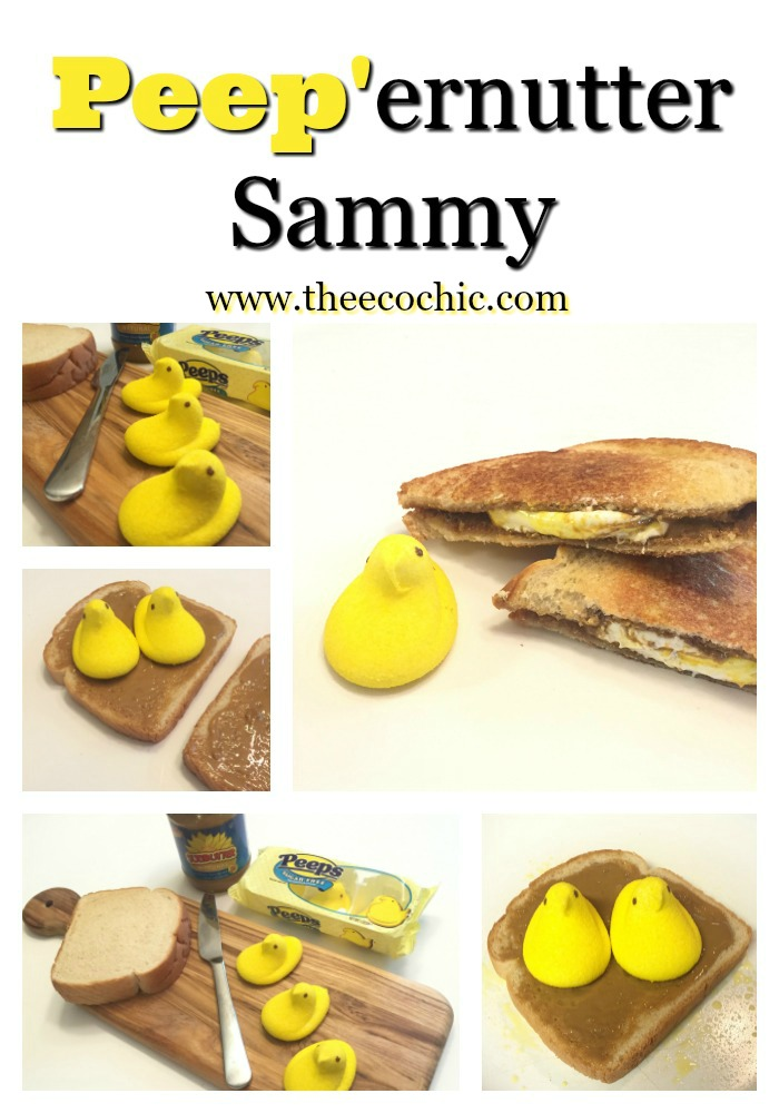 Grilled Peep'ernutter Sammy - Fluffernutter for Easter #PEEPSEASTER #AD