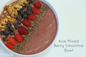 Acai Mixed Berry Smoothie Bowl Recipe