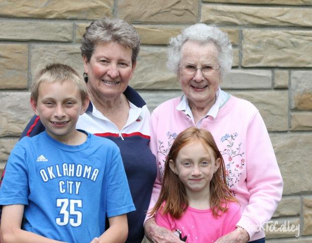 Grandma, Great Grandma and the kids - 2016