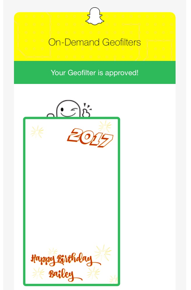 How to get a Snapchat Geofilter Approved