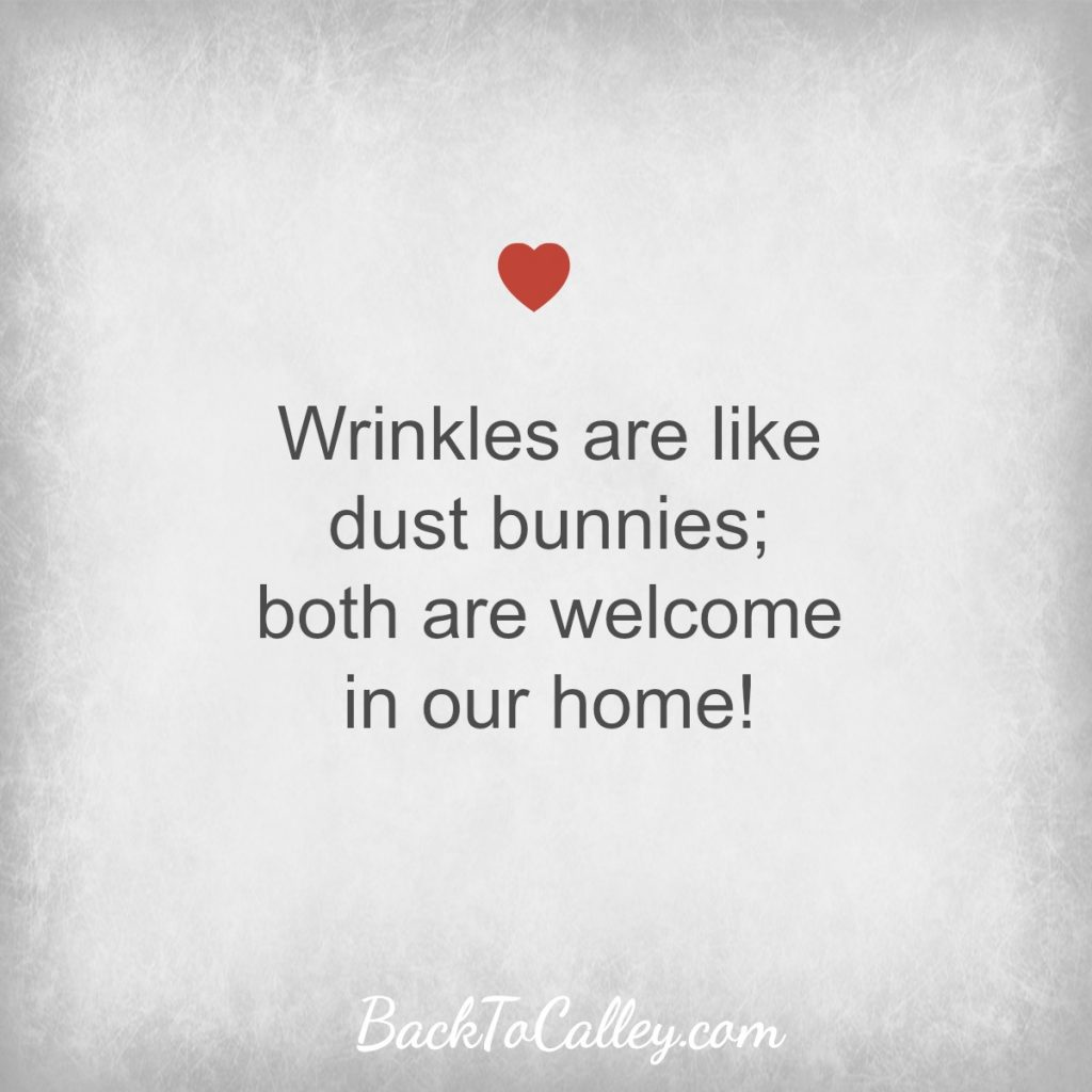Wrinkles are link dust bunnies