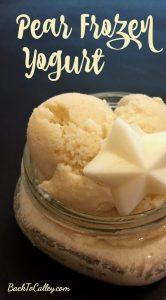 Pear Frozen Yogurt Recipe