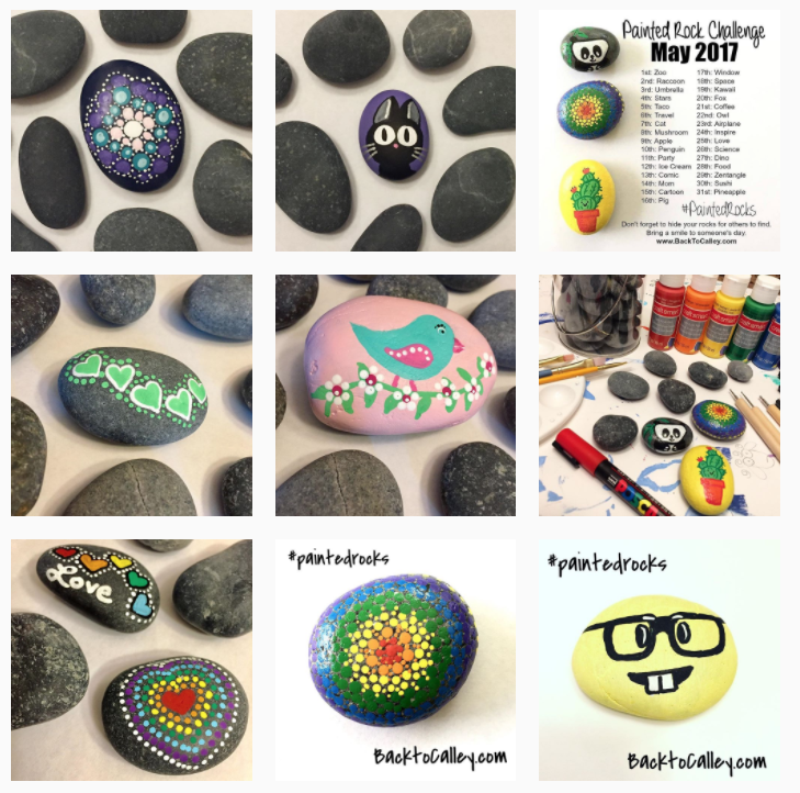 painted rocks by calley