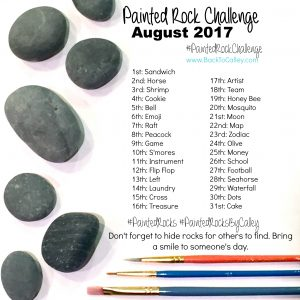 Painted Rock Challenge August 2017 #PaintedRockChallenge