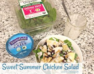 Sweet Summer Chicken Salad with Stonyfield and Taylor Farms Salads #TaylorFarms #StonyfieldOrganic #SaladsOnRepeat