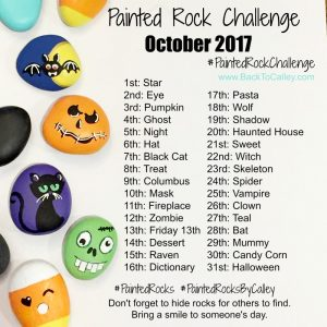 Painted Rock Challenge – October 2017