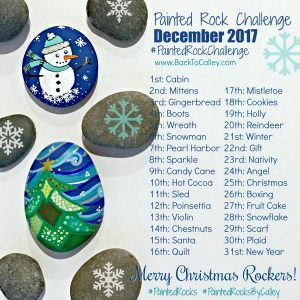December Painted Rock Challenge