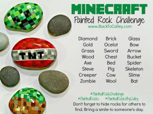 Minecraft Painted Rock Challenge
