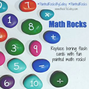Painted Math Rocks Flash Cards & Florida Prepaid Open Enrollement