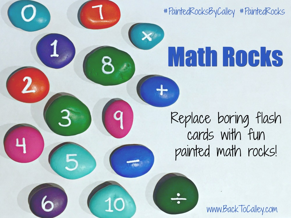Painted Math Rock Flash Cards