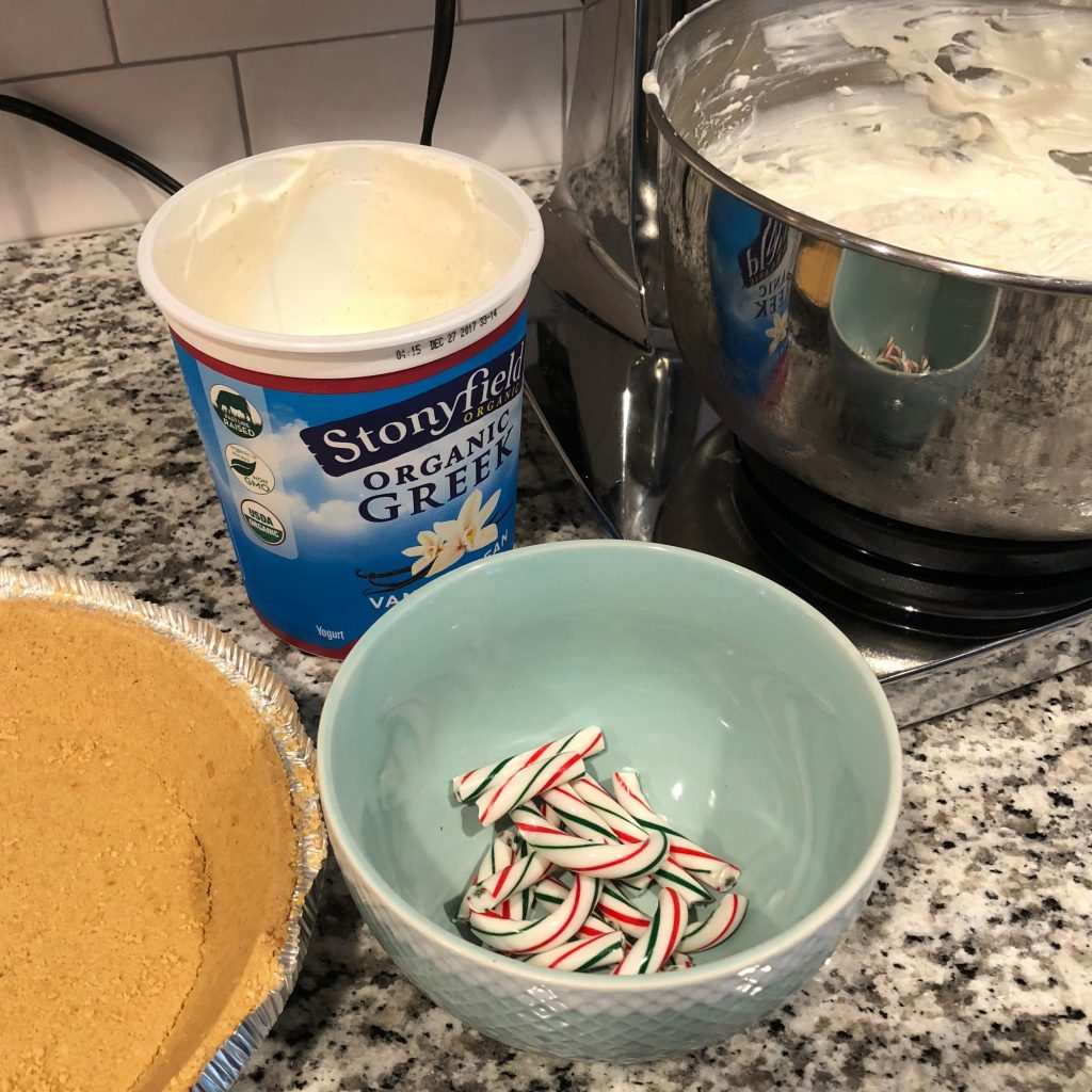 Candy Cane Pie with Stonyfield #Stonyfield #Sponsored