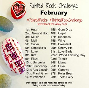 February Painted Rock Challenge