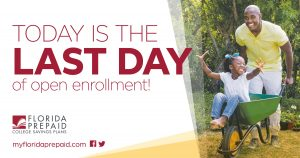 Florida Prepaid Enrollment Ends Today