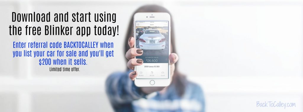 Download the free Blinker app today to sell buy or refi a car