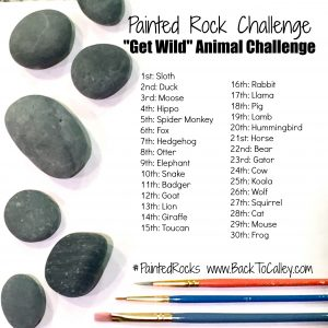 """Get Wild"" Animal Painted Rock Challenge"