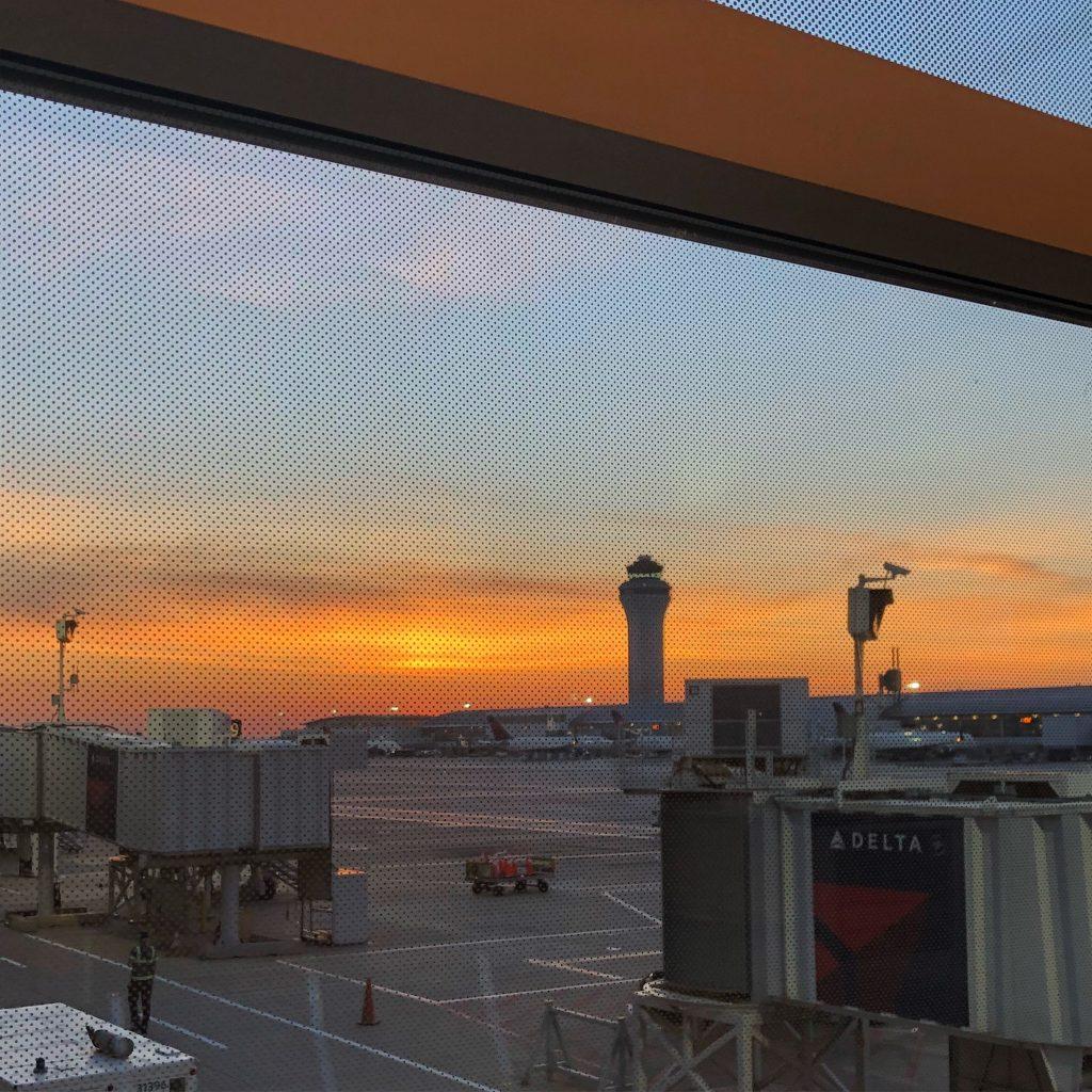 DTW Airport Sunrise
