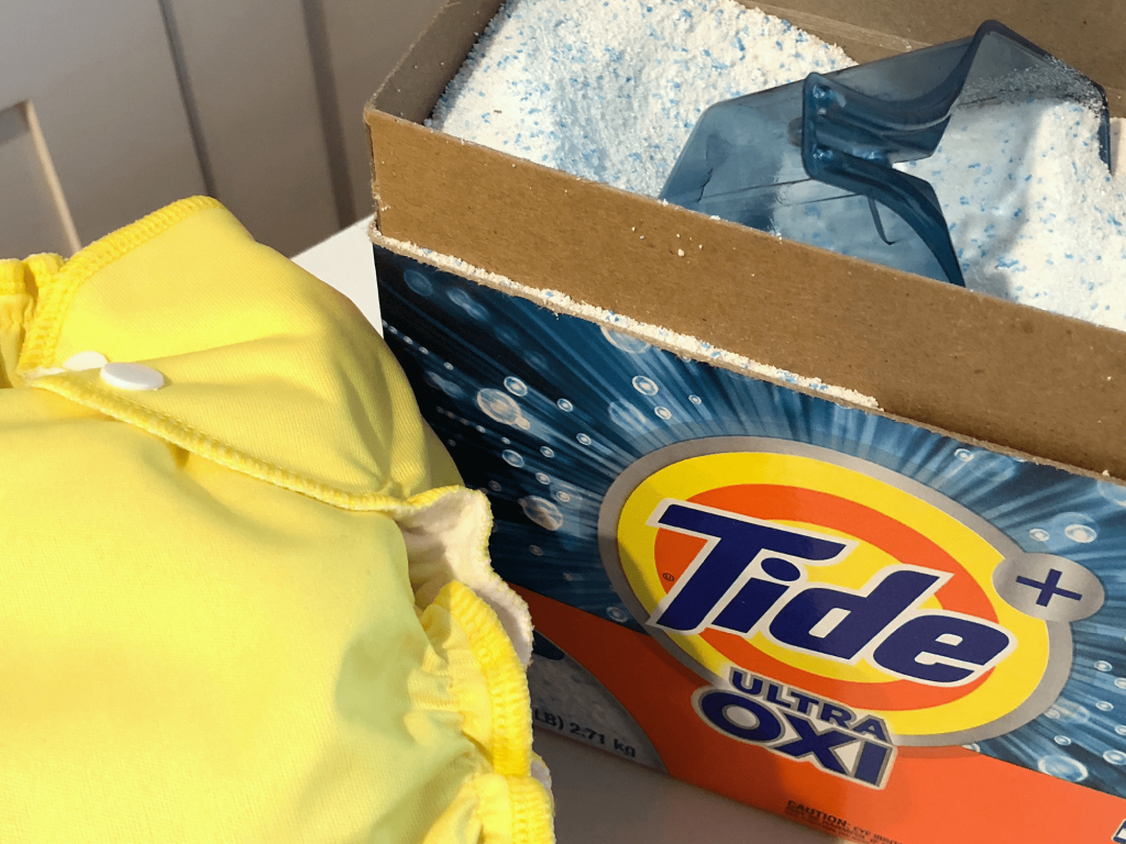 Tide +Oxi for cloth diapers