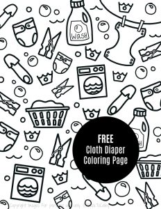 FREE Cloth Diapering Coloring Page