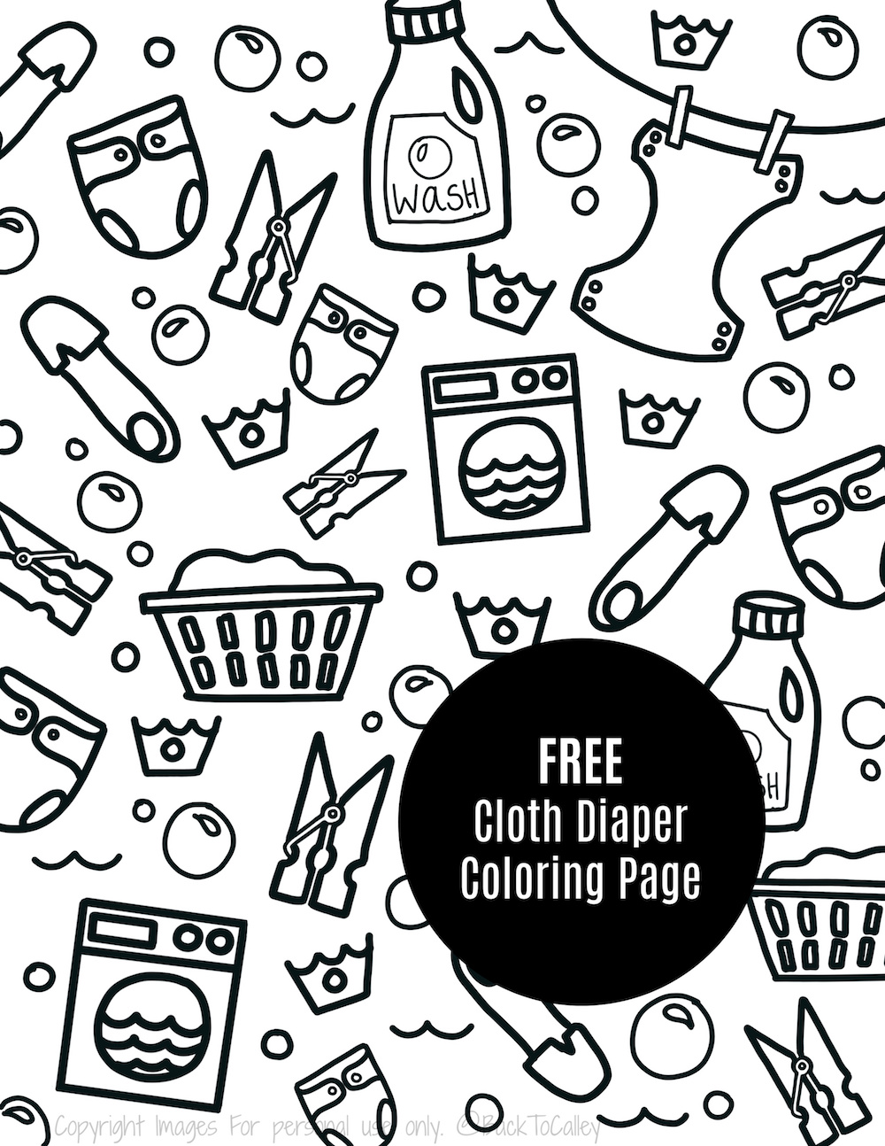 FREE Cloth Diapering Coloring Page — A Tampa Lifestyle, Travel ...