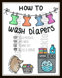 Cloth Diaper Laundry Room Sign Download