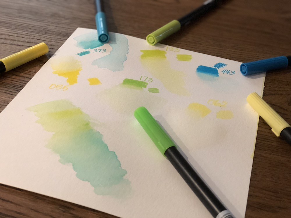 Tombow Brush Pens Watercolor Technique