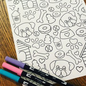 Pug Coloring Page