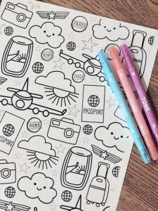 Travel Coloring Page