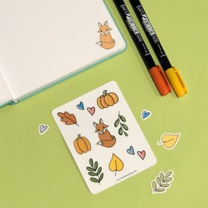 Foxy Fall Sticker Set for Journaling