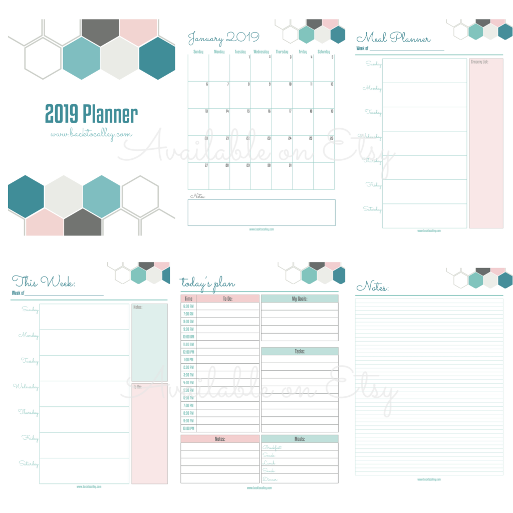 2019 Printable & Digital Planner