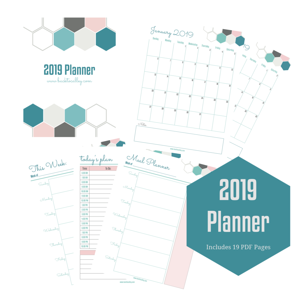 2019 Printable Planner and Digital Planner