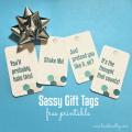 Sassy Gift Tag Printables