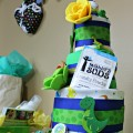 Cloth Diaper Cake Dinosaur Theme