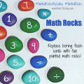 Painted Math Rock Flash Cards square