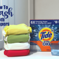 How to Wash Cloth Diapers with Tide + Oxi