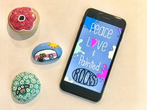 peace love and painted rocks iPhone wallpaper