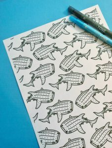 Whale Shark Coloring Page